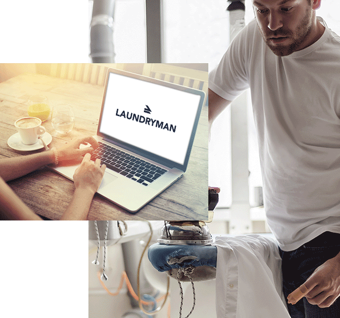work with laundryman