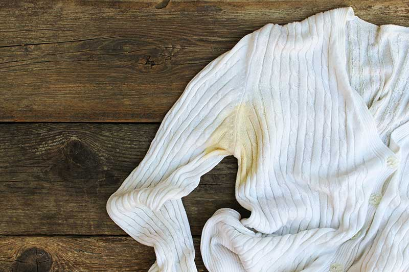Get Rid of Sweat Stains from White Clothes